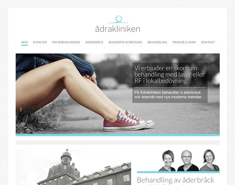 Ådrakliniken - webbyrå göteborg