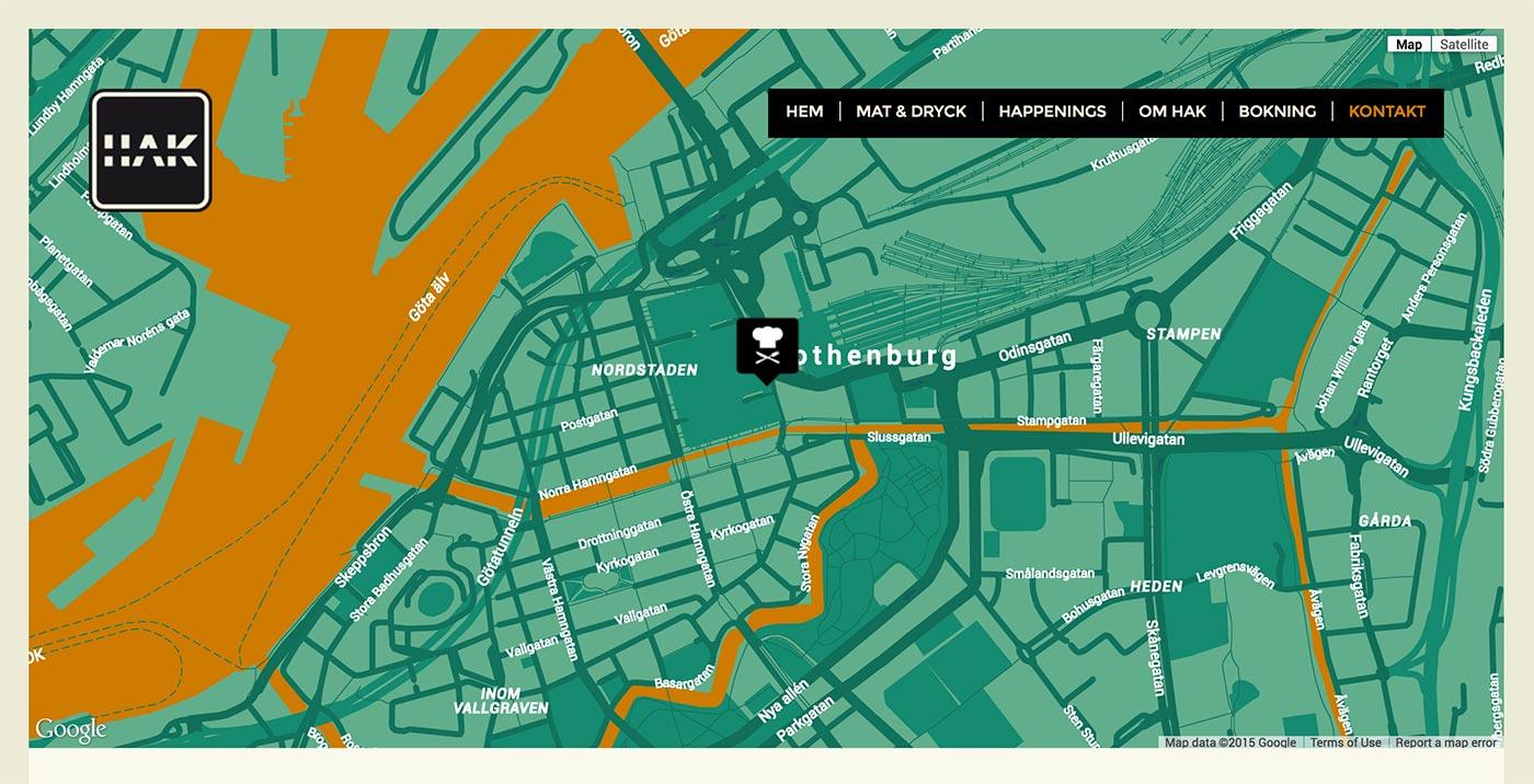 Webbyrå Göteborg - Restaurang HAK