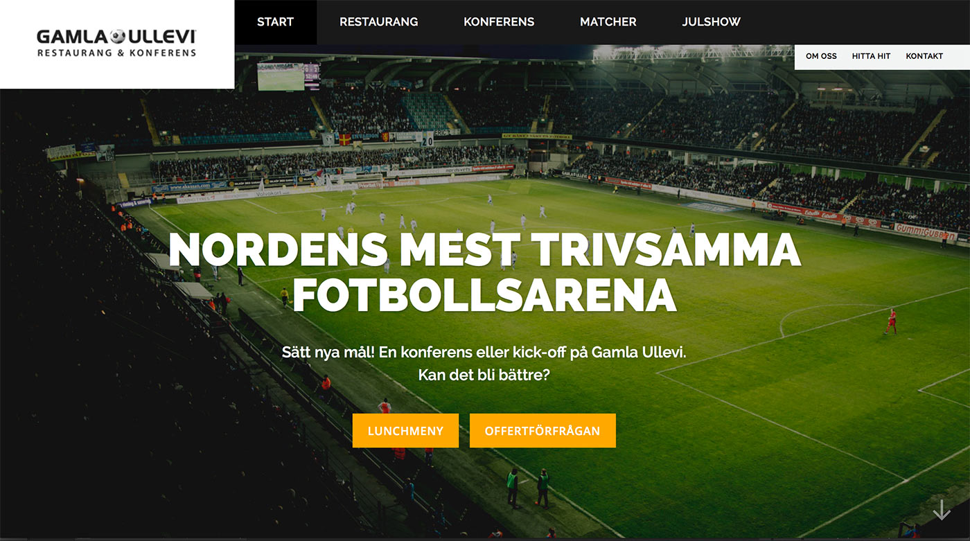 Webbyrå Göteborg - Gamla Ullevi